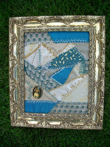Crazy Quilt Framed