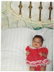 Baby Me (MsBlueSky) Tags: family baby me infant dress feminine girlie 1990s 90s reddress amaravazquez