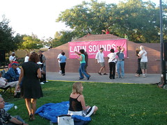 Dancing at LACMAs Latin Sounds music series