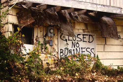 Closed. No business. by Faye Pekas