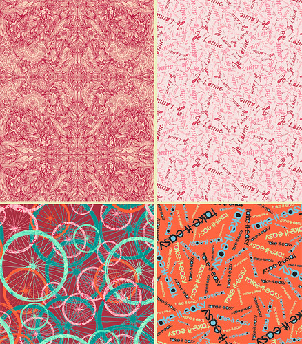 new patterns that incorporate hand lettering