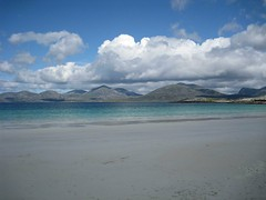 Luskentyre beach - how blue the sea is!