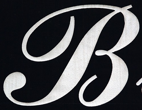 Script Capital Letter B on an Awning (New York, NY)