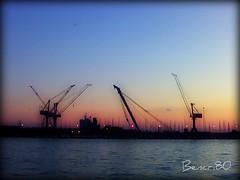 Livorno e la sua magia... (bencri80) Tags: sky tramonto nuvole mare porto cielo infinito livorno libert lavoro