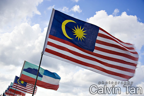 Skying Malaysia's Flag