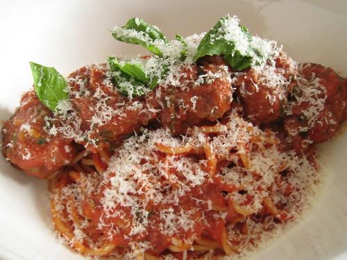 Meatball Spaghetti w/Parmesan (Parmigiano Reggiano)