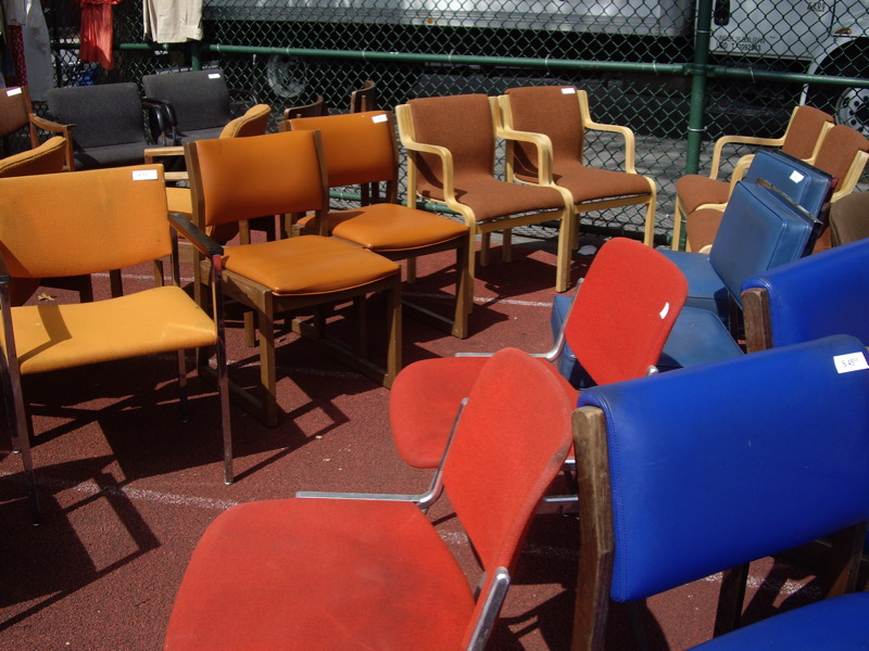 Vintage Chairs at Brooklyn Flea