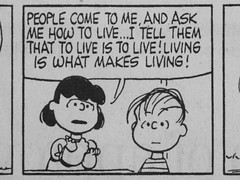 To Live is To Live 6731 (mliu92) Tags: booth lucy peanuts philosophy linus schulz psychiatrist pontificate vanpelt