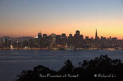 San Francisco at Sunset (RealLight) Tags: bridge sunset night photography bay san francisco
