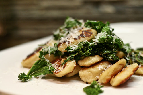 Crisp Gnocchi with Lemon & Garlic Greens