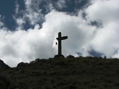 Broken Symmetry (giora vered) Tags: peru southamerica clouds christ cross religion jesus christianity huayhuash lpsymmetry lpdamaged