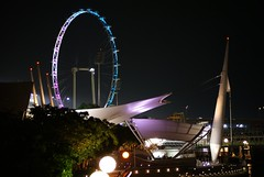 Flyer at night (bleublogger) Tags: family vacation sport singapore f1 formulaone insingapore