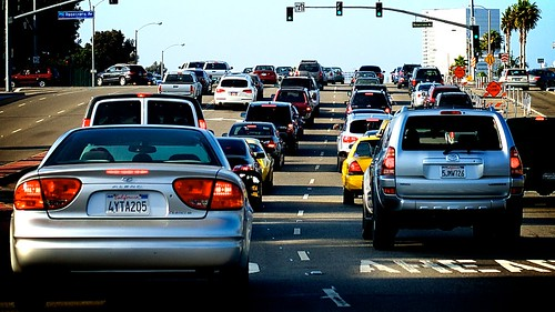 Sepevulda Blvd. Traffic At Rosecrans