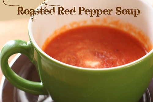 Finished Red pepper soup