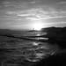 P90506781 Atardecer en Blanco y Negro sobre la Playa de la Cala del Moral en Rincón de la Victoria (Málaga)