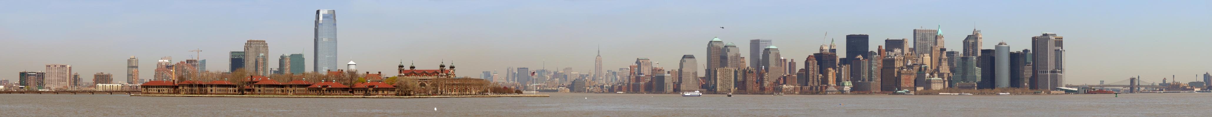 Panorama de Manhattan (4121x400)