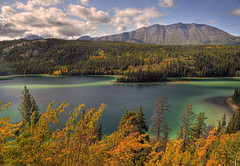 Emerald Lake View (Jeff Clow) Tags: canada landscape bravo jpeg emeraldlake 3xp photomatix yukonterritory colorphotoaward jeffrclow