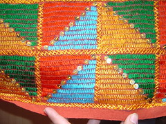 single bed cover II close up - 2 (KritIndia) Tags: bagh bedcover phulkari silkembroidery khaddar darnstitch
