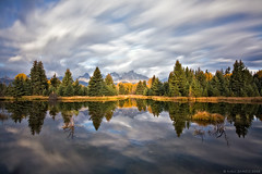 reflecting on eighty seconds... (Mac Danzig Photography) Tags: autumn trees mountains reflection fall nature river landscape bravo stream grandtetonnationalpark macdanzigphotography macdanzigphotography tnc11