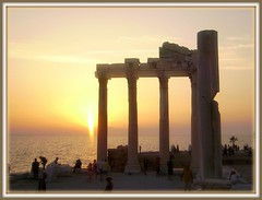 Sunset at the Apollo Temple in Side .. (pinklady6... Home ..) Tags: sunset searchthebest bej goldstaraward turkeysde