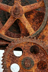 Mechanism (CGoulao) Tags: abandoned wheel tooth decay machine redondo ferrugem mechanism roda mquina dentes ferro abandonado engrenagem mecanismo roldana colourartaward