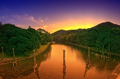 Ise River (/\ltus) Tags: sunset japan river pentax handheld freehand shinto hdr iseshrine isejingu 5xp japanhdr k20d 200810