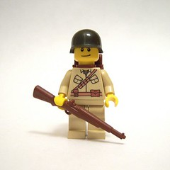 U.S. Paratrooper (babyjawa) Tags: us lego wwii worldwarii minifig custom paratrooper brickarms