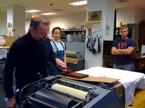 From the Hatch Show Print workshop at Columbia