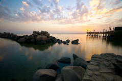 Infinity 2 (Khaled A.K) Tags: longexposure sunset cloud rock clouds rocks corniche slowshutter sa jeddah saudiarabia khaled ksa sigma1020mm 10mm saudia jiddah nd8 nd4 nikond300 kashkari