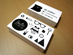 New business card (Bubi Au Yeung) Tags: blackandwhite design icons graphic objects identity card businesscard namecard bubiauyeung dotdotmouse