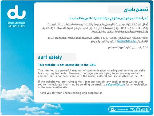 Blog Banned In Dubai