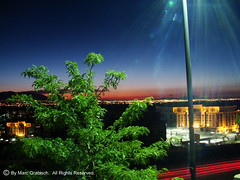 Dusk in Salt Lake City (mgrabisch) Tags: city light sunset sky lake motion green night buildings lights movement twilight ut dusk sony salt dsc h9 sonydsch9