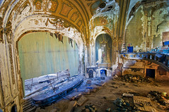theater (dropsheet) Tags: show pink abandoned broken rock movie dead italian ruins theater doors alice decay stage detroit picture bob jazz down palace spanish forgotten cooper jethro collapse co movies grateful waste baroque floyd venue auditorium crumbling seger ruined tull jeffersonairplane neoclassic famed shutin waier vjwaier leaveyourspraycansathome everyonesdoinit ifyouwantsomethingtogetaroundtellsomeoneitsasecret scraptown