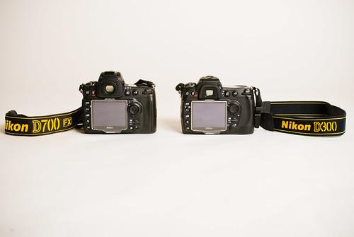 D300 vs. D700 back