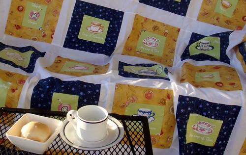 tea quilt top