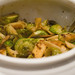 Parsnips and brussel sprouts