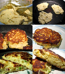 Leftover Mashed Potato Pancakes (Genie Robinson) Tags: food cooking pancakes breakfast potatoes recipes brackettville uvalde delrio kinneycounty photographerintraining brackettvilletexas genierobinson fortclarksprings