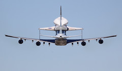 "Rockwell International Space Shuttle Endeavour OV-105 on Boeing 747-100SR Shuttle Carrier Aircraft (SCA) - N911NA ""NASA 911"" at EFD (AV8PIX Christopher Ebdon) Tags: g4 sca nasa talon canberra hornet boeing 707 f18 g3 spaceshuttle 747 sta t38 dc9 dc8 b47 superguppy vomitcomet efd weightlesswonder diamondclassphotographer flickrdiamond nasa911 n911na 747100sr wb47 superguppie"