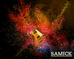 Mi guitarra samick (balbastro julio) Tags: music yellow photoshop design guitar guitarra amarillo viola msica diseo lespaul samick