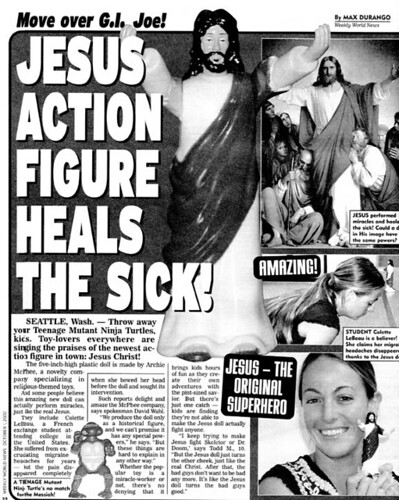 Jesus Action Figure in the Weekly World News