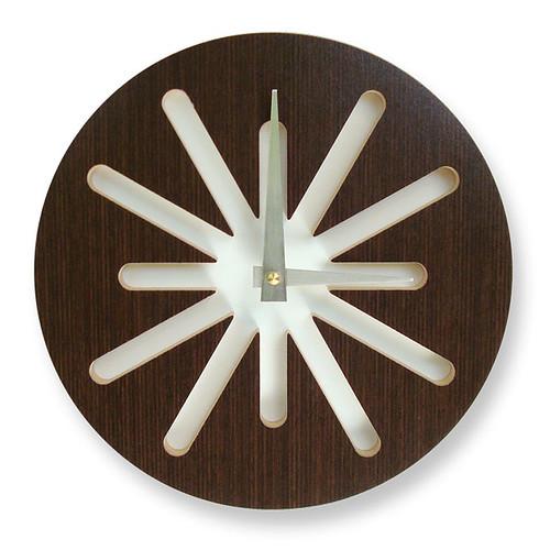 Chocolate Splat Modern Wall Clock