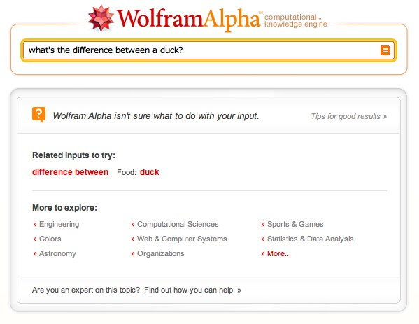 what's the difference between a duck? - Wolfram|Alpha