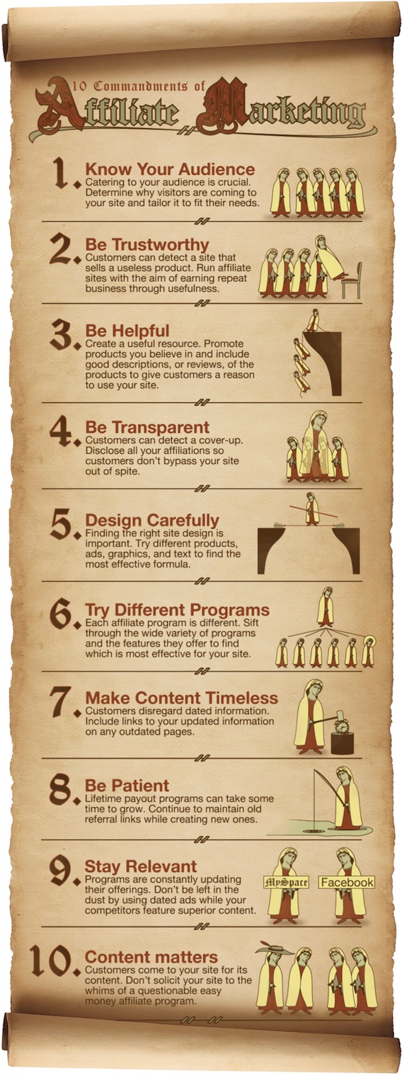 The 10 Commandments of Affiliate Marketing