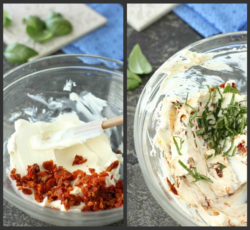 Sun-Dried Tomato & Basil Cream Cheese Spread Recipe | cookincanuck.com