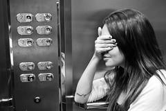 peur de levage (Ana Cavalieri) Tags: city brazil sky love girl brasil clouds lights peace lift elevator sp paulo so bealty