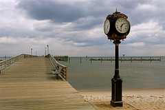 Clock On The Boardwalk (Baab1) Tags: winter clouds sand maryland beaches fabulous benches clocks dlux boardwalks smorgasbord southernmaryland artcafe goldenglobe calvertcountymaryland northbeachmaryland leicadlux3 thebestofday chesapeakebeachmaryland ilovemypics spiritofphotography winterleicadlux3 worldglobalaward