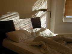Sunday Morning Shadows (archangeldeb) Tags: morning light shadow bed sunday sheets sundaymorning easysunday
