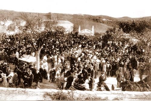 Inauguración del monumento a El Greco el 7 de abril de 1914