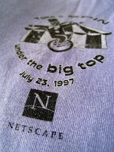 Netscape, take a spin under the big top T-shirt