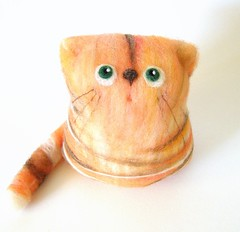 Primus, the Ginger Cat (fingtoys) Tags: wool cat toy felt arttoy fing fingtoys